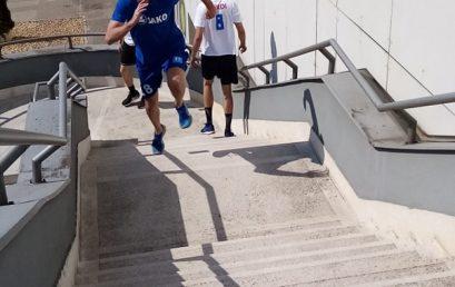 Robbanékony erőnléti feladatok a Hübner-Nyíregyháza Bs kosárlabdázóival