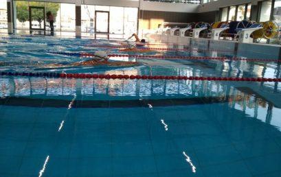 Először az új medencében – Kipróbálhatták az új uszodát a Sportcentrum versenyzői