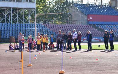 Kölyökatlétika verseny a Városi Stadionban